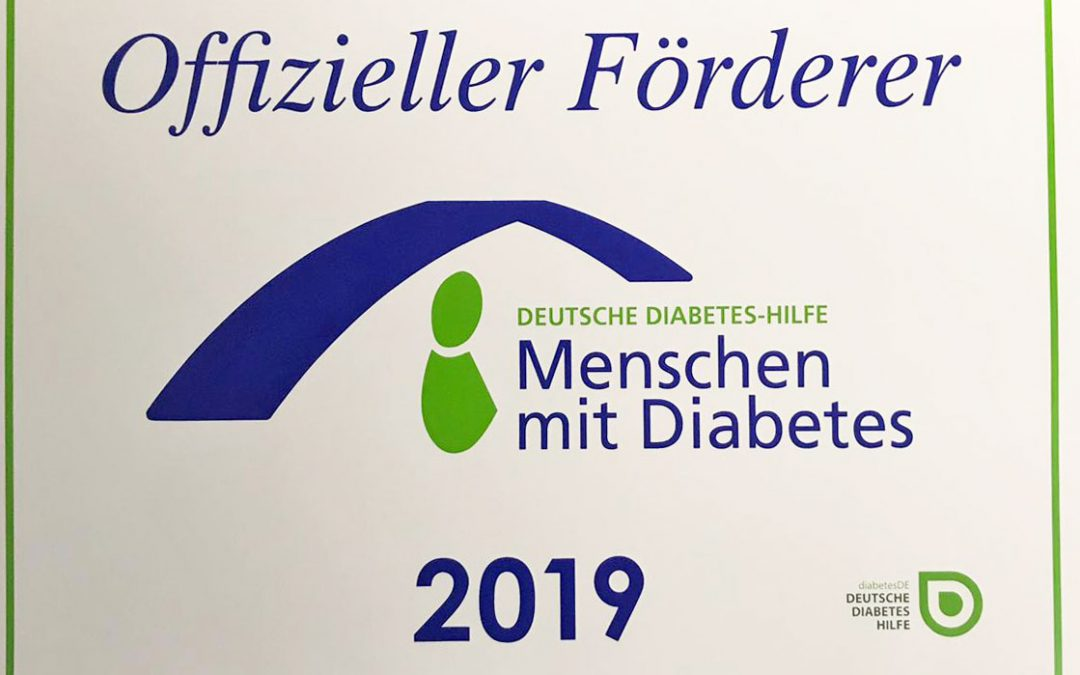 Offizieller Förderer der Deutschen Diabetes-Hilfe